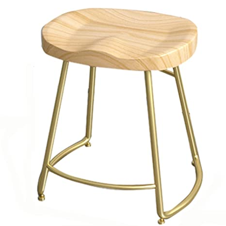 Surprising Amazon Com Ljfyxz Bar Stool Vintage Metal Solid Wood Seat Gmtry Best Dining Table And Chair Ideas Images Gmtryco