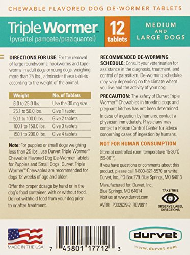 Durvet-12-Pack-Triple-Wormer-Tablets-for-Medium-and-Large-Dogs