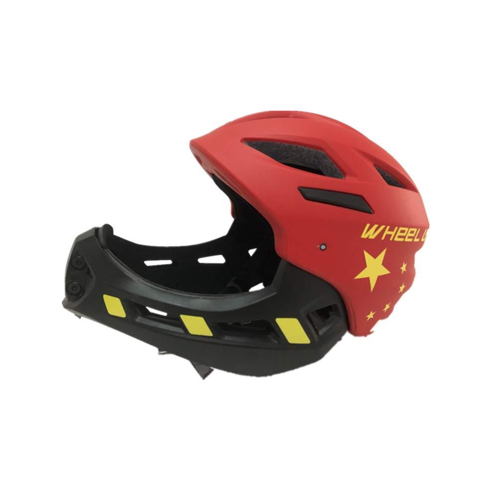 子供用自転車用ヘルメット 【優れた通気性】 ヘルメット こども用 子供用スケートボードヘルメット 両用 サイス調整可能 小学生 スポーツヘルメット  Red B07R8J54LG