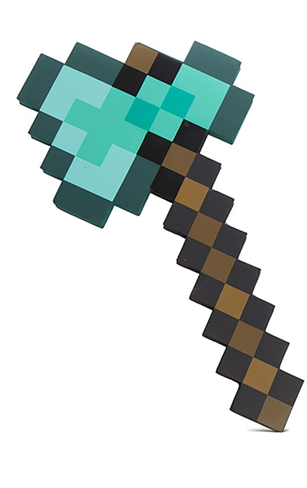 ThinkGeek Minecraft Diamond Axe - Chop Your Way to Minecraft Success