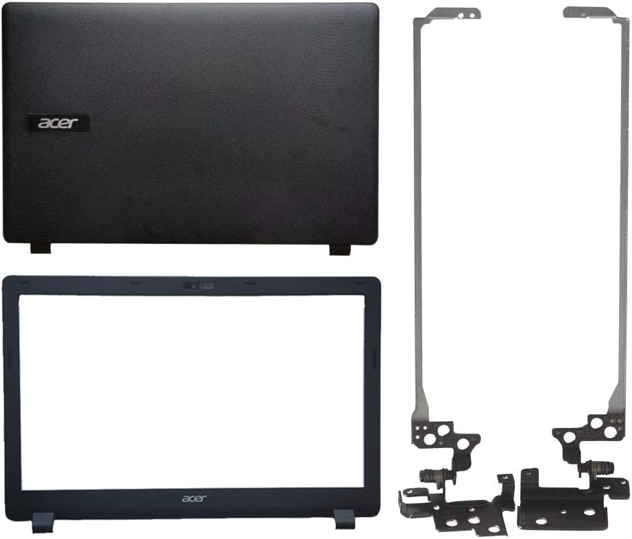 Laptop Replacement Parts Fit Acer Aspire ES1-512 ES1-531 Gateway NE512 NE513 (LCD Front Bezel Cover+LCD Top Cover Case+LCD Screen Hinges)