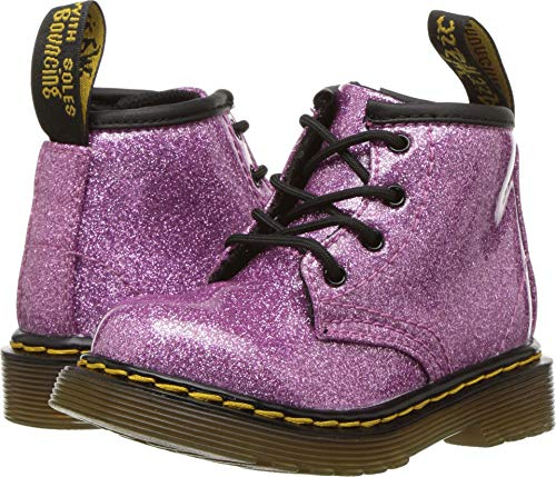 Dr. Martens Kid's Collection Baby Girl's 1460 Patent Glitter Infant Brooklee Boot (Toddler) Dark Pink Coated Glitter 4 M UK M for $<!--$44.96-->