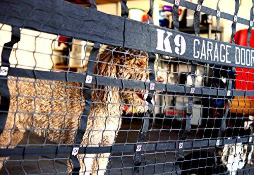 K9 Garage Door Kennel Net, Large & Small Dog Kennel with Access Door, Black ()