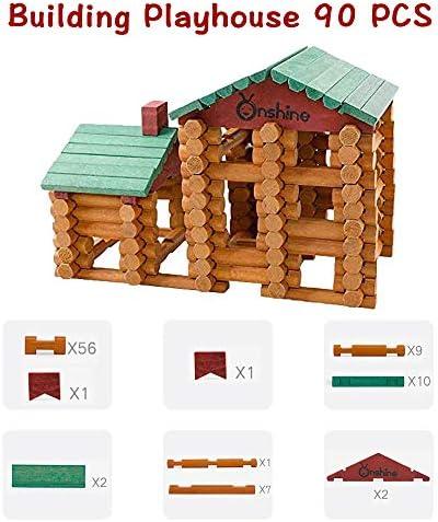 90 Pedazos Juguetes de Construcción de Madera para Niños, los Primeros Juguetes de Bloques de Construcción para Mis Pequeños Hijos 【E20200121】: Amazon.es: Juguetes y juegos