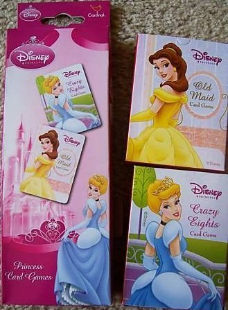 Disney Princess 2pk Card Game - Old Maid, and Crazy Eights