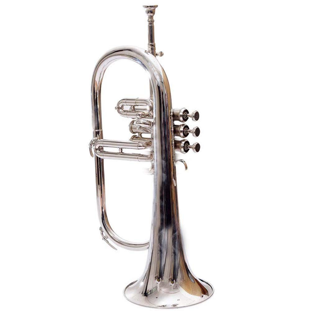 SC EXPORTS Bb Flat Silver Nickel Flugel Horn With Free Hard Case+Mouthpiece by SCEXPORTS (Image #5)