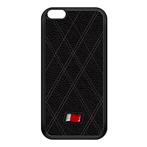 Stylish Black Leather Flag of United Arab Emirates Dubai - UAE Flag Black Silicon Rubber Case for iPhone 6 Plus by UltraFlags + FREE Crystal Clear Screen Protector