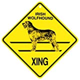 Irish Wolfhound Xing caution Crossing Sign dog Gift