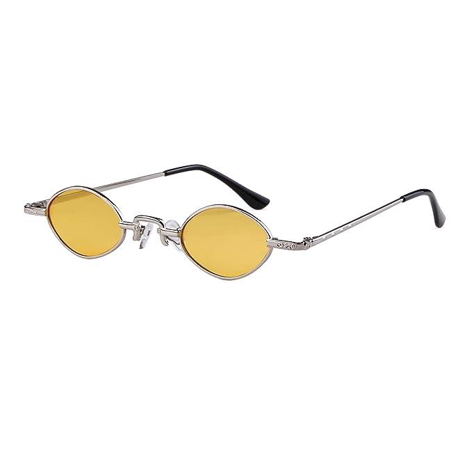 ADEWU Gafas de sol pequeñas ovales Gafas vintage retro para ...