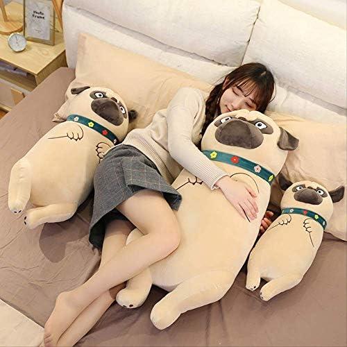 Shar Pei Hond Knuffel Soft Gevuld Cilindrisch Dier Kussen Hondje Kinderen Cadeau 90cm