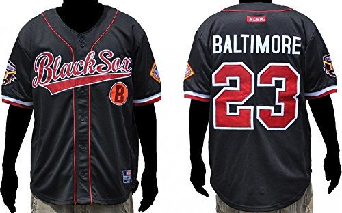 Baltimore Black Sox Baseball - Baltimore Black Sox Legacy S3 Mens Baseball Jersey [3XL - Black]