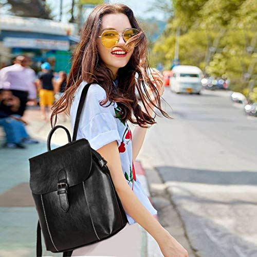 AEGBW Women's Pu Leather Fashion Backpacks Purse Convertible Ladies Casual Shoulder Bag School Bag for Girls by AEGBW (Image #8)