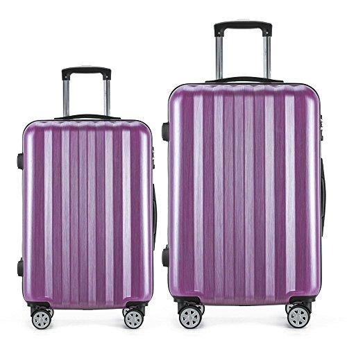 Purple Hardshell Case (Luggage 2 Piece Expandable Set Hardshell Spinner Suitcase)