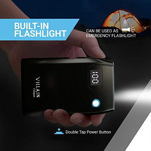 speedy charge 30 Villain 10000mAh mobile Backup Battery Cell phone Charger by indicates of  built in LED pen Lights and LED exhibit External Battery Pack by indicates of  twin USB Ports ideally suited potential Bank for iPhones Androids Tablets far more FireWire Port Cards
