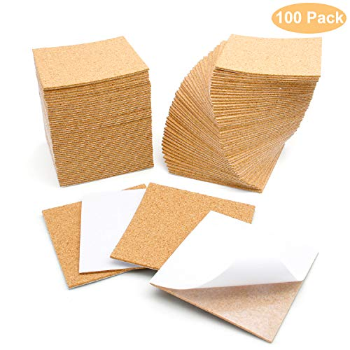 100 Pcs Self-Adhesive Cork Sheets 4