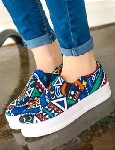 Plataforma 5 5 Tela us8 cn37 us6 red Azul eu39 eu39 Exterior Creepers cn39 red Rojo 5 Casual blue ZQ uk6 de mujer eu37 us8 uk6 uk4 Mocasines Zapatos 7 cn39 xwBqn78pgt