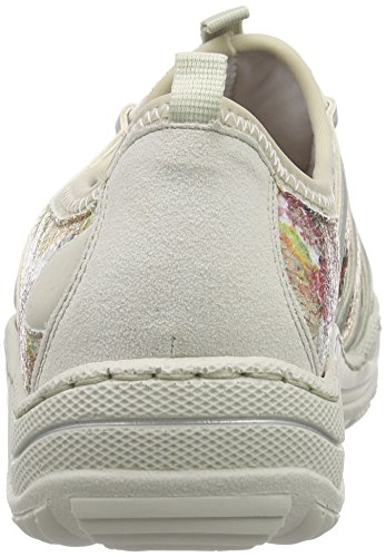 Ice Damen Beige Silver Low Rieker multi Weiss Sneakers Women 80 L0563 Weiß top f6CgqaB
