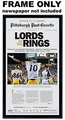 Pittsburgh Post Gazette   Pittsburgh Steelers Newspaper Frame