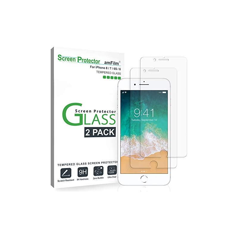 amFilm Glass Screen Protector for iPhone