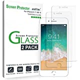 """amFilm Glass Screen Protector for iPhone 8, 7, 6S, 6 (4.7"""")(2 Pack) Tempered Glass"""