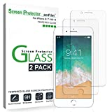 "Electronics : amFilm Glass Screen Protector for iPhone 8, 7, 6S, 6 (4.7"")(2 Pack) Tempered Glass Screen Protector"