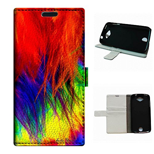 Ostrich Deluxe (Liquid Z530S case,SoloShow(R)Deluxe High Quality PU Leather Wallet Card Flip Stand Case for Acer Liquid Z530 Z530S. (Colored ostrich feathers))