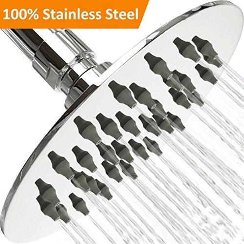 [NEW 2018] Shower Head - 4' Stainless Steel Rain Shower Head...