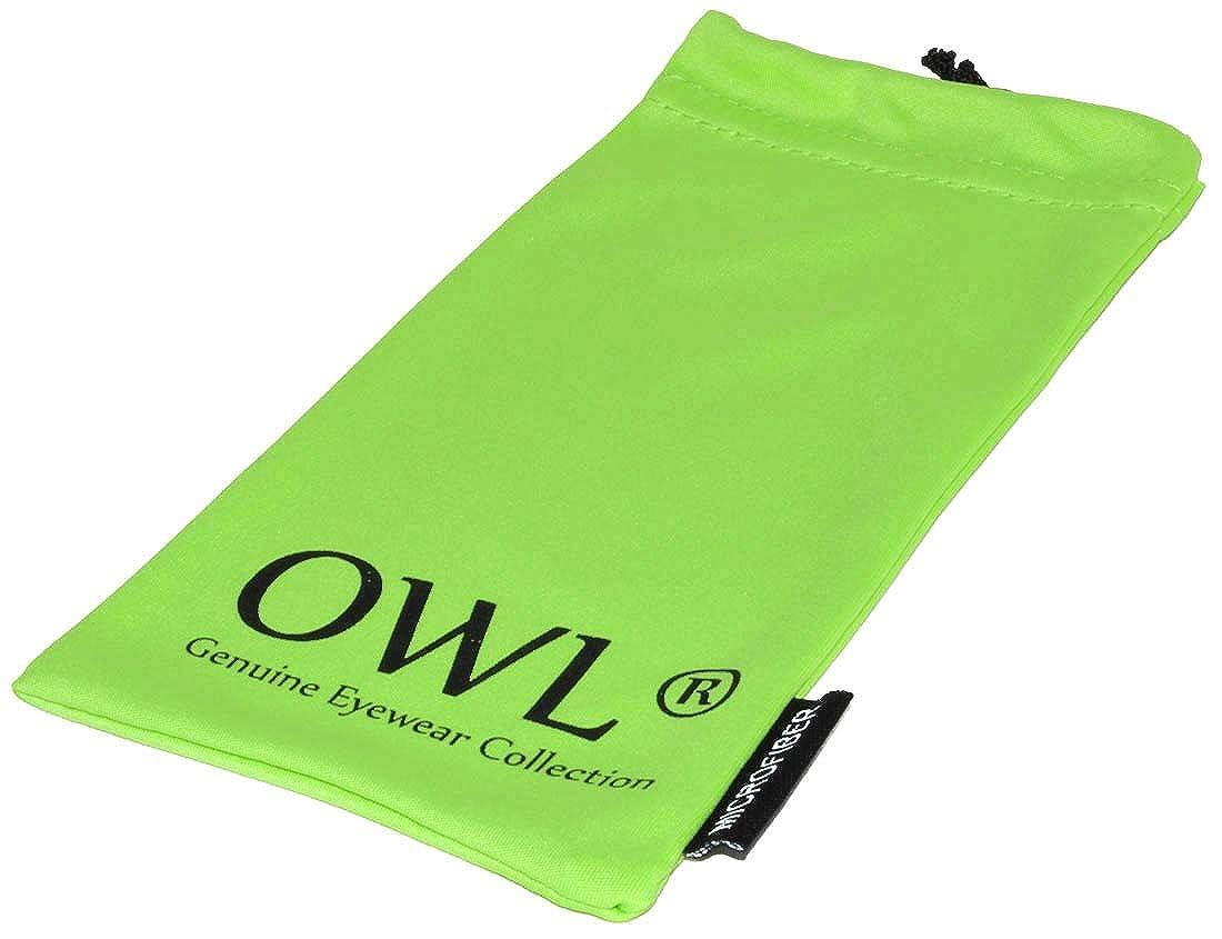 OWL Pouch American Classic Retro Classy Square Frame Unisex Sunglasses
