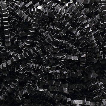 2 Pound Crinkle Cut Paper Shred - Black ()