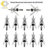 "MoKasi 12pcs Archery Official SlipCam Broadheads 2 Blade 100 Grain 2+"" Cut"