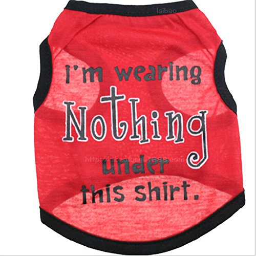 - Zrong Pet Puppy Summer Cotton Shirt Small Dog Cat Clothes Words Print Vest T Shirt