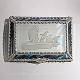 Penquin, Stained Glass Jewelry Box, Presentation Box, Keepsake Box, Glass Jewels, Swarovski Crystals, USA Made