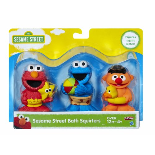 Sesame Street Bath Squirters, Bath Toys featuring Elmo, Cookie Monster and Ernie, Ages 12 Months - 4 Years (Amazon Exclusive) Assortment (Amazon Exclusive)