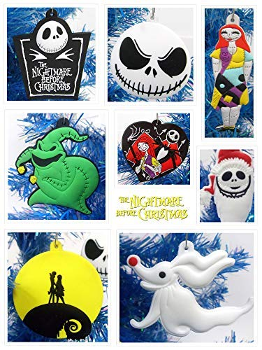 Nightmare Before Christmas 8 Piece Christmas Tree Ornament