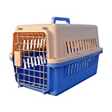 Paw Essentials 23'' inch Dog and Cat Pet Carrier and Travel Crate (Blue)