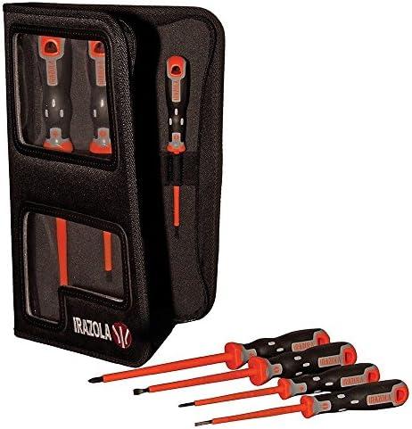 Set de 7 destornilladores con estuche, de Irazola; clasificados EN60900 1000 V AC: Amazon.es: Bricolaje y herramientas