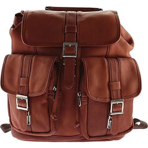 [ピエールレザー] メンズ バックパックリュックサック Medium Drawstring Backpack With Two Fron [並行輸入品] One-Size  B07DJ1DFLS
