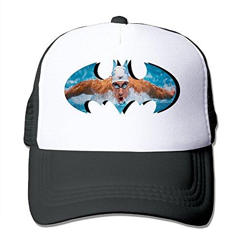 custom-unisex-michael-phelps-flat-billed-baseball-caps-black