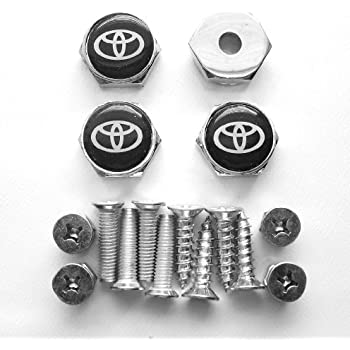 Amazon Com New 4 X Toyota License Plate Frame Bolts