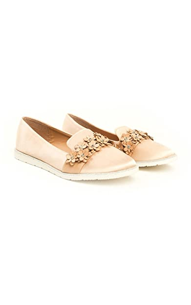 6e47d6045 Ikrush Womens Eden Flower Embellished Flat Pumps Beige UK 4  Amazon.co.uk   Shoes   Bags