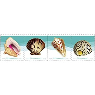 USPS Seashells Postcard Stamps, Roll of 100: Toys & Games