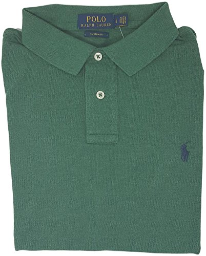 Polo Ralph Lauren Men Custom Fit Mesh Pony Logo Shirt (L, - Sales Ralph Polo Lauren