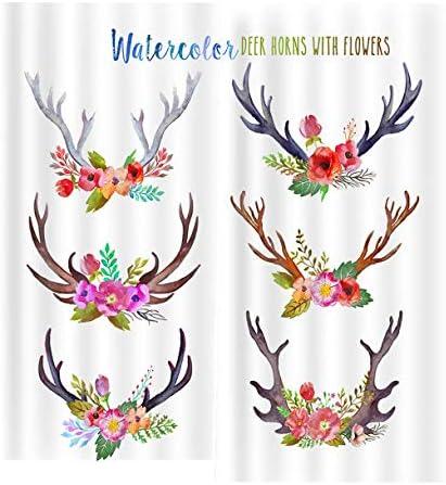 QinKingstore 花アントラーズ2ピース/セット150×166センチウィンドウカーテン用ホームキッチンリビングルームベッドルームウィンドウ装飾