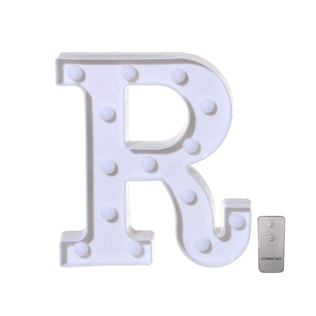 Remote Controlled Standing//Hanging Alphabet LED Letter Lights A-Z Alphabet