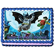Lego Batman Edible Frosting Sheet Cake Topper - 1/4 Sheet