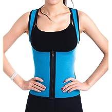 SLTY Women's Hot Thermo Sweat Neoprene Shapewear Sauna Tank Top Vest For Weight Loss