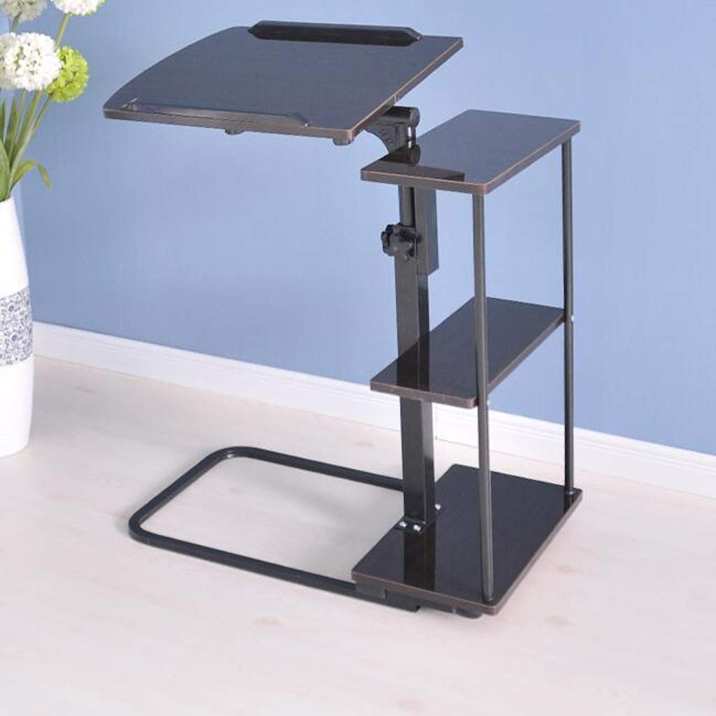 アルミ合金折りたたみテーブルシンプル怠惰なコンピュータテーブルアセンブリ折りたたみテーブル変形折りたたみテーブル,Black B07SLYMGSF Black
