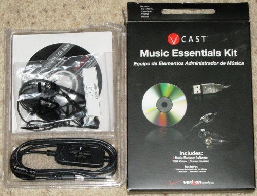 (V CAST VERIZON MUSIC ESSENTIALS KIT VX8550 VX9400)