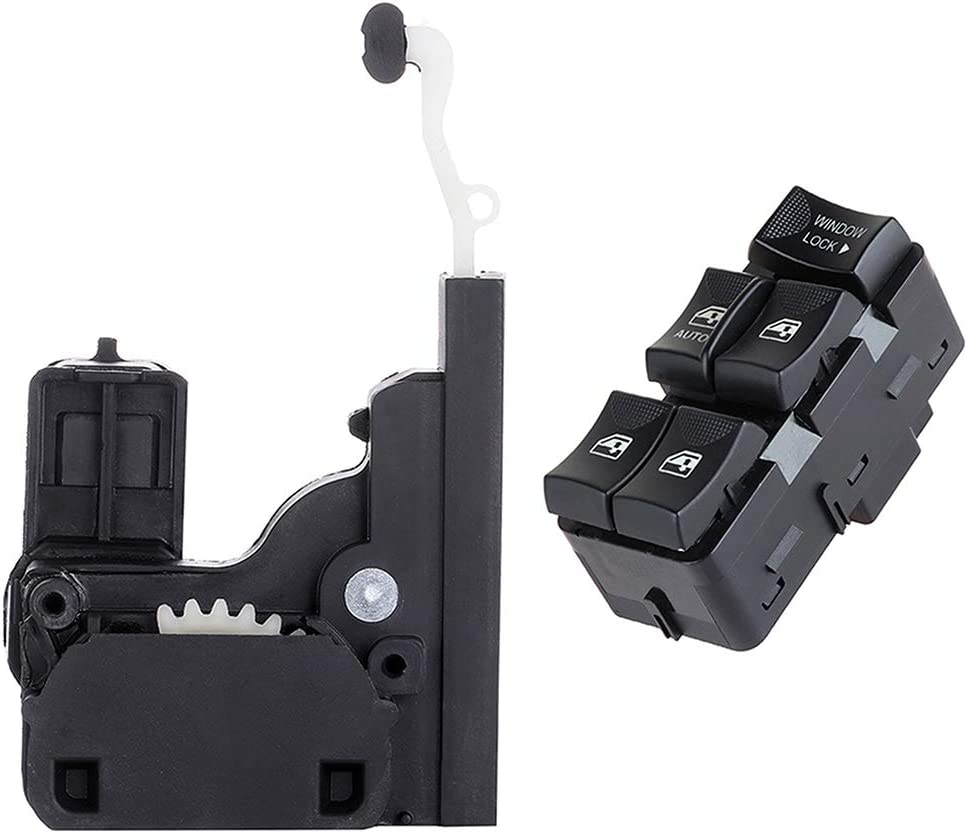 Fits for 2002-2007 for Buick Rendezvous 2000-2005 for Chevrolet Impala Front Driver Side Door Lock Latch and Actuator Power Window Switch Door Lock Switch 901-001 2PCS