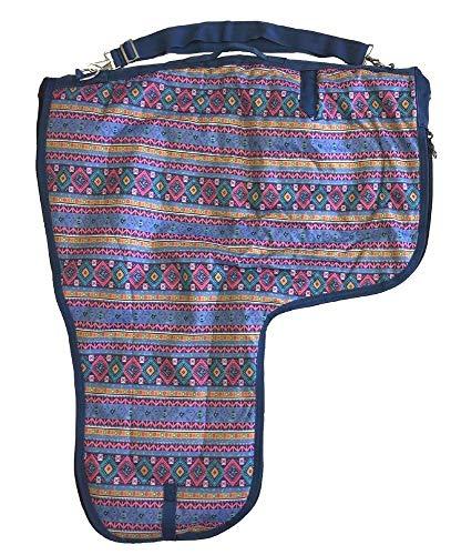 AJ Tack Wholesale Western Saddle Carrier Case Storage Bag 600D Waterproof Padded Aztec Print